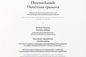 GRSS Certificate in German and Russian