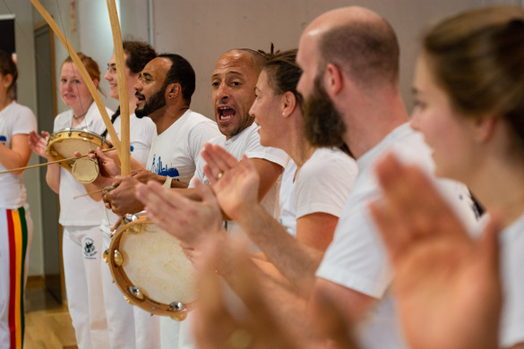 a Capoeira group during a performance at the International Meeting Center of the TU Dortmund University