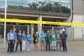 group picture in front of Signal-Iduna-Park