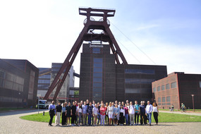 A group of students at Zeche Zollverein