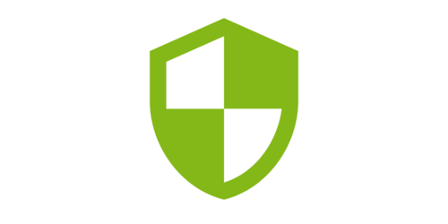 a green sign (icon, pictogram)