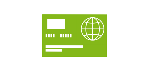 a green visa (Icon, Piktogramm)